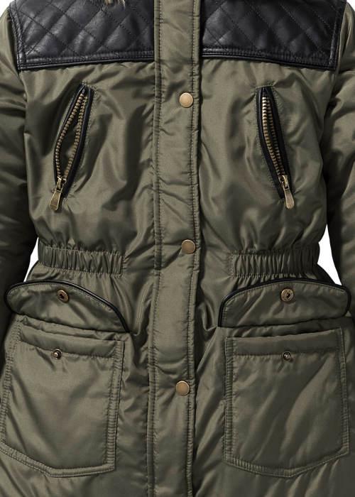 Holčičí zimní bunda s pruženkou v pase