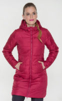 Hřejivý růžový dámský zimní kabát SAM 73