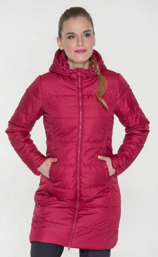 Hřejivý růžový dámský zimní kabát SAM 73 9410ae19438
