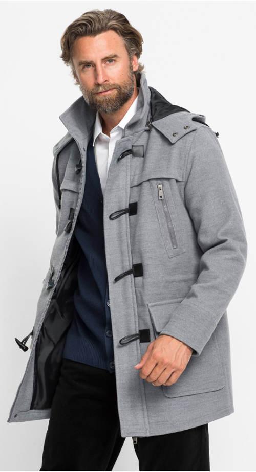 Klasický pánský šedý kabát