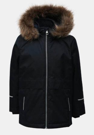 Klučičí funkční zimní bunda s kožešinovou kapucí