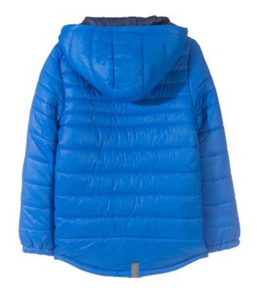 Klučičí modrá bunda s kapucí