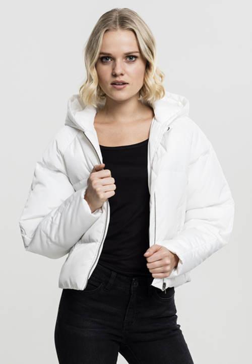 Krátká bílá dámská zimní bunda