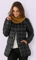 Lehká dámská zimní kostkovaná bunda
