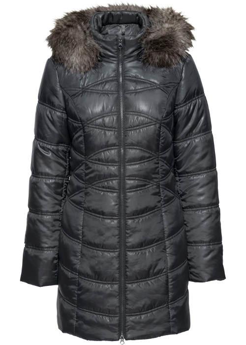 Levná černá dámská zimní bunda