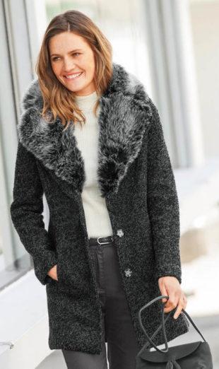 Luxusní dámský kabát z vařené vlny