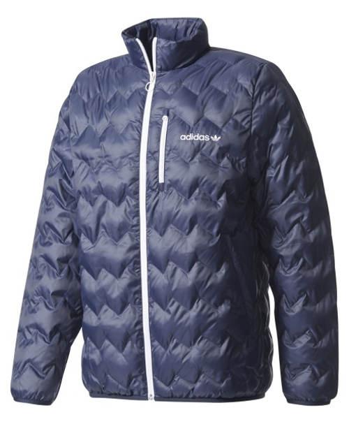 Modrá prošívaná pánská zimní bunda Adidas