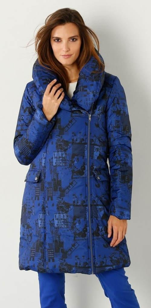 Modrá teploučká dámská zimní bunda