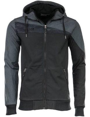 Pánská šedo-černá softshellová bunda Alpine Pro