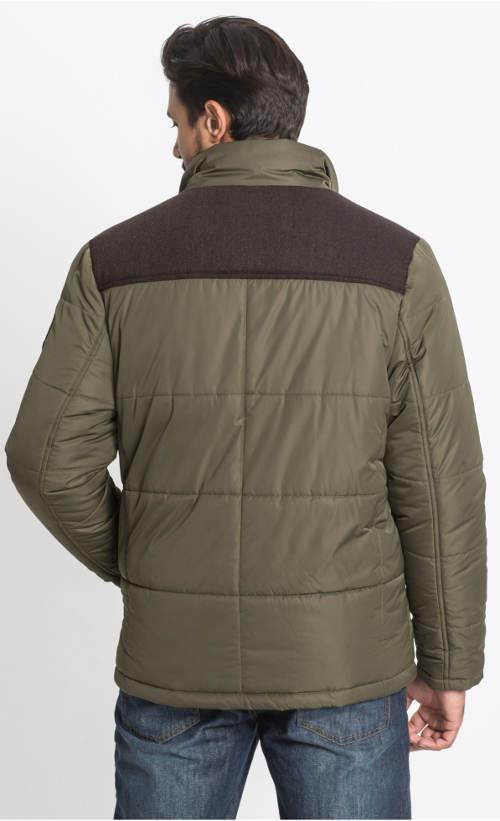 Pánská zimní bunda olivové barvy