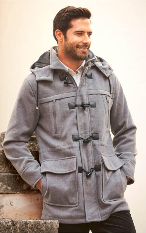 Pánský kabát s velkými kapsami
