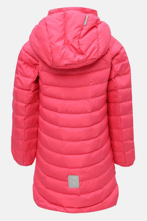 Prodloužená dívčí peřová bunda