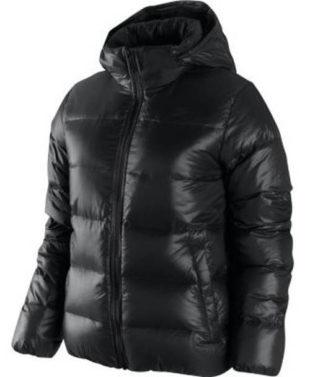 Prošívaná péřová dámská zimní bunda Nike