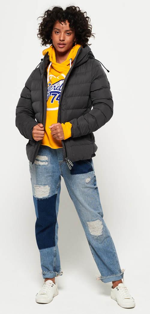 Prošívaná zimní bunda pro mladé