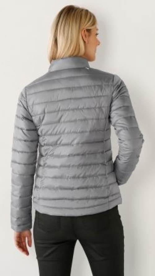 Šedá prošívaná zimní bunda