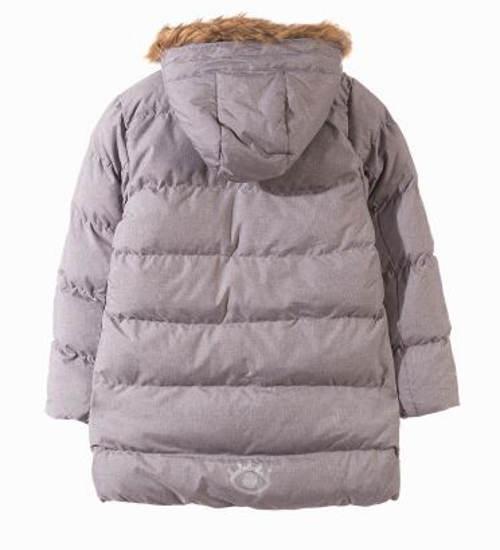 Šedo-béžová dětská zimní bunda