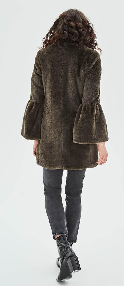 Semišový dámský zimní kabát z Anglie