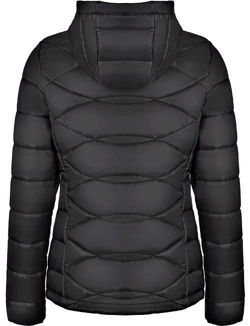 Teplá černá dámská zimní bunda