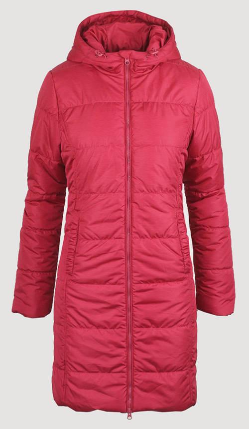 Teplá dlouhá dámská zimní bunda
