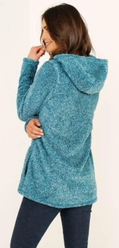 Tyrkysová dámská bunda