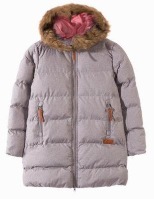 Výprodejová dívčí zimní bunda s kožíškem