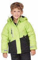 Zeleno-černá dětská zimní bunda Scout