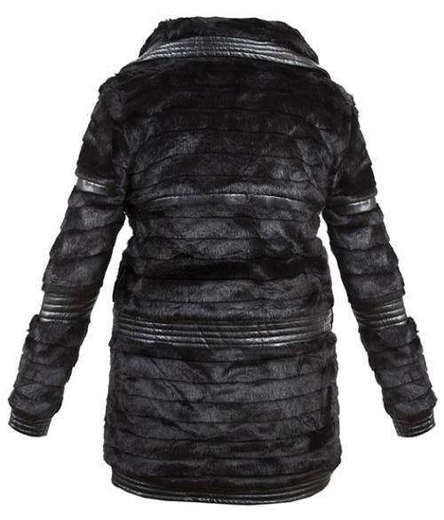 Zimní bunda z lesklé kožešiny