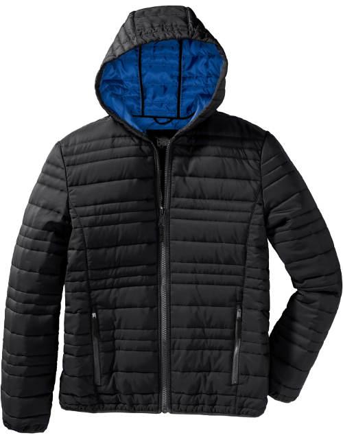 Černá prošívaná zimní bunda výprodej