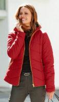 Lehčí prošívaná zimní bunda se stojacím límcem