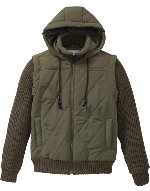 Pánská podzimní bunda olivové barvy