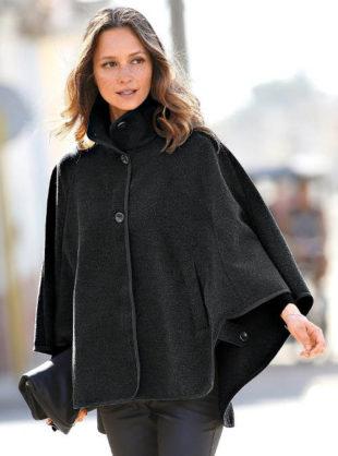 Plášťový kabát pelerína