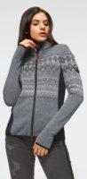Pletená dámská bunda z hřejivého fleece