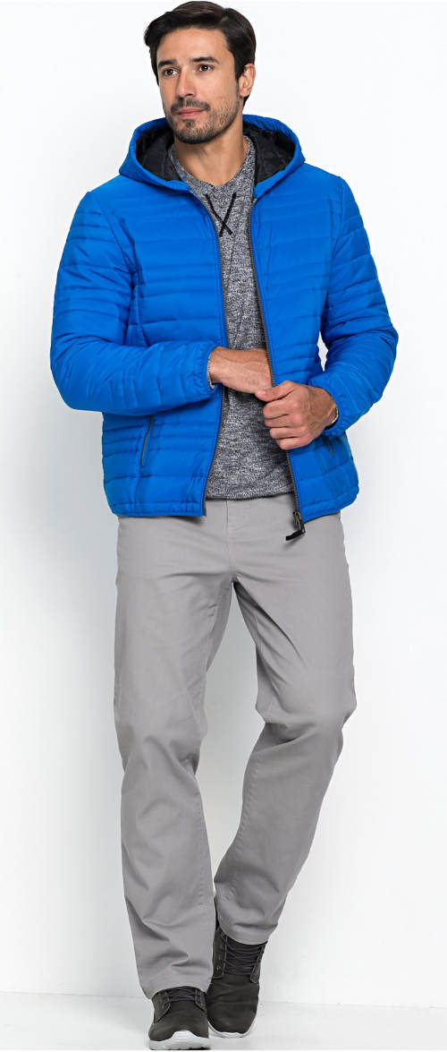 Prošívaná pánská outdoorová bunda výprodej