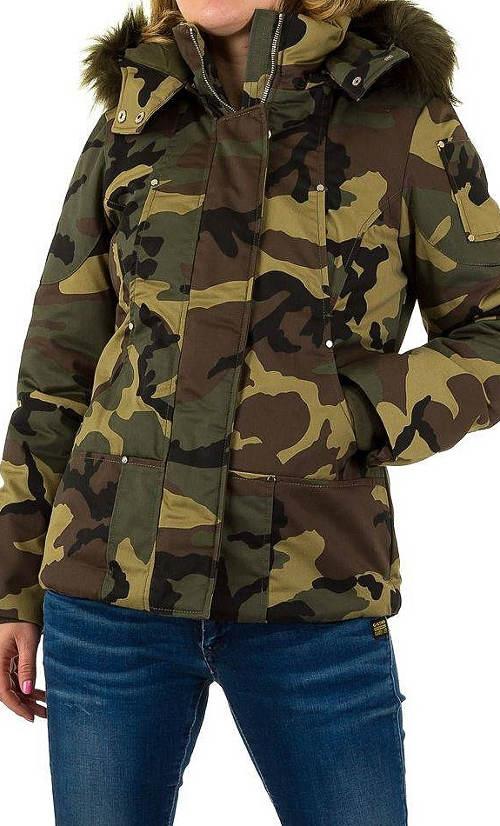 Vojenská army dámská zimní bunda výprodej