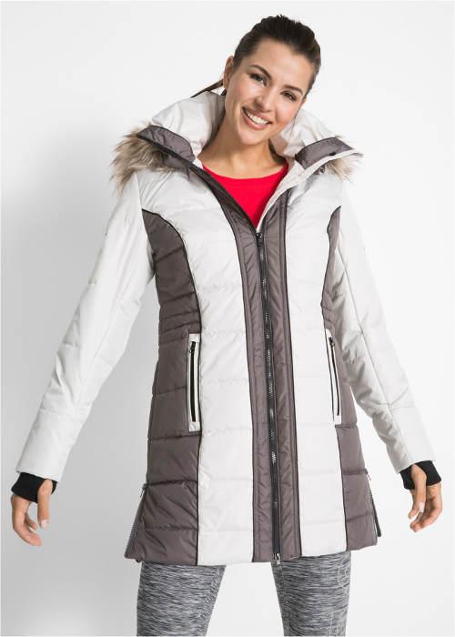 Outdoor kabát s umělou kožešinou