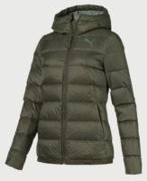 Zelená dámská sportovní zimní bunda Puma