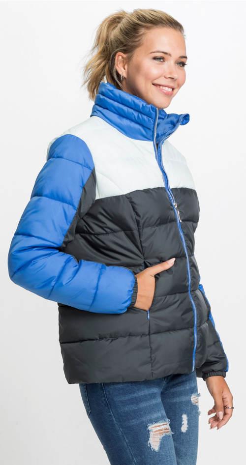 Barevná dámská zimní bunda s vysokým stojáčkem