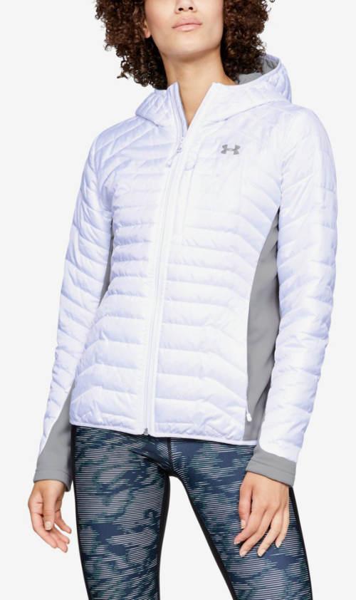 Bílá lehčí sportovní dámská zimní bunda