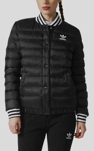 Černá dámská zimní prošívaná bunda adidas Originals