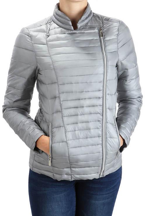 Dámská jarní bunda se zapínáním na asymetrický zip