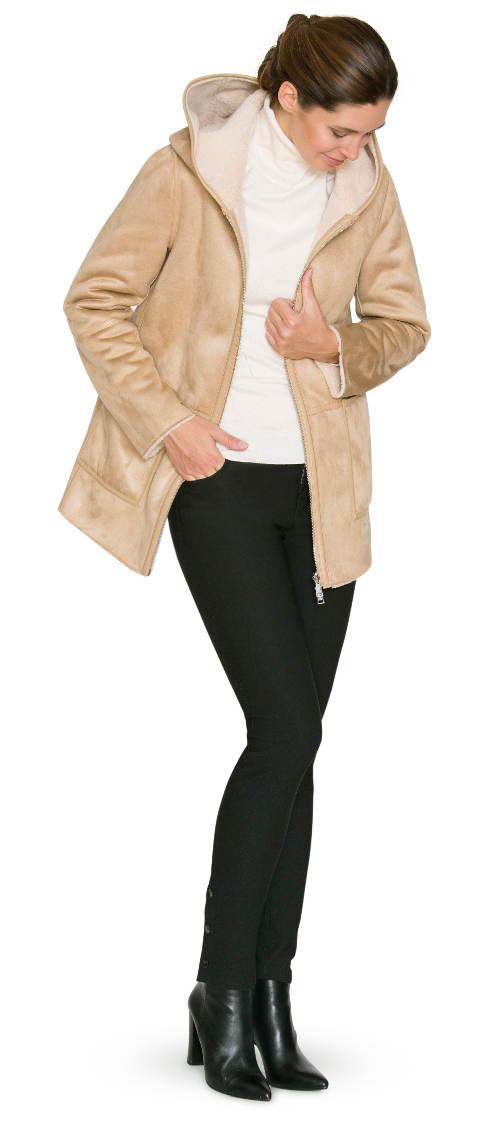 Dámský kabát Kara z umělé kožešiny
