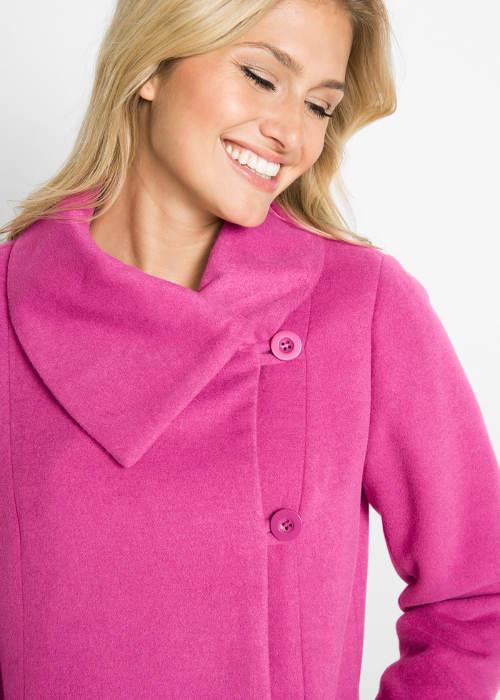 Dámský kabát s klopovým límcem