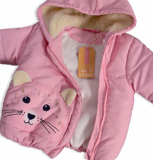 Holčičí bunda s kočičkou