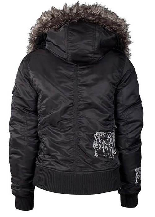Krátká černá dámská zimní bunda
