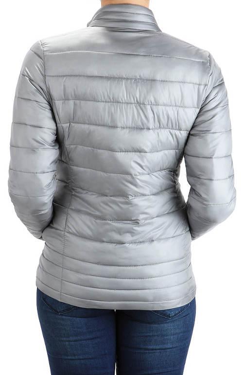 Lehká stříbrná dámská zimní bunda