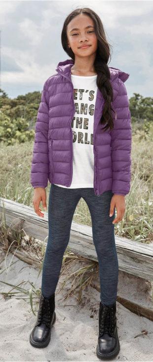 Levná holčičí prošívaná zimní bunda