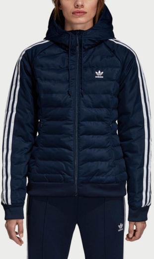 Modrá dámská zimní retro bunda Adidas