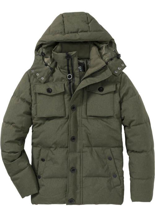 Pánská zimní bunda s náprsními kapsami