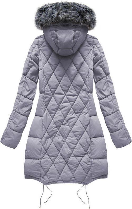 Prodloužená prošívaná dámská zimní bunda