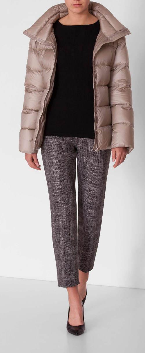 Prošívaná nylonová dámská zimní bunda